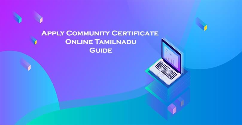 apply community certificate online tamilnadu