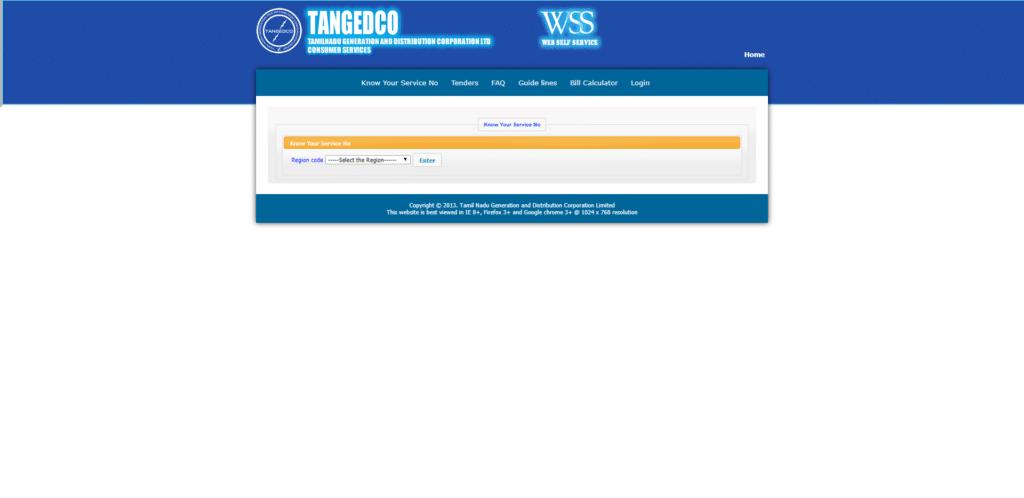 TNEB service number finder