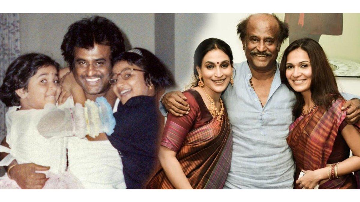 Rajini with daughters