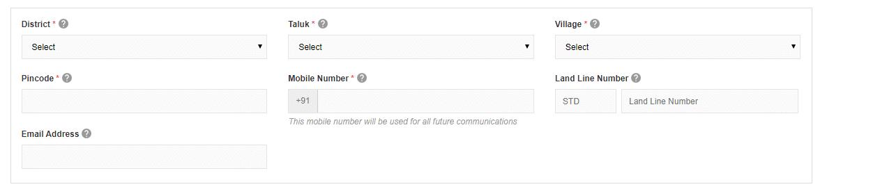 ration card application form online