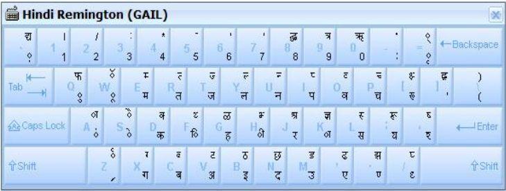 mangal font character map